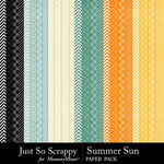 Summer sun pattern papers small