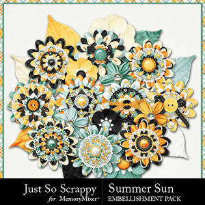 Summer sun layered flowers medium