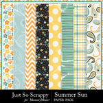 Summer Sun Worn Paper Pack-$1.99 (Just So Scrappy)