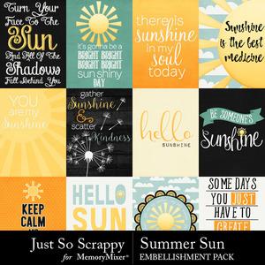 Summer sun pocket scrap cards medium