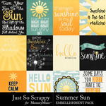Summer sun pocket scrap cards small
