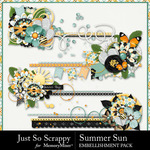 Summer Sun Cluster Stitches Pack-$1.99 (Just So Scrappy)