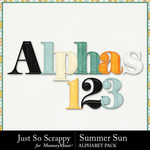 Summer sun alphabets small