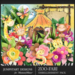Zoofari Embellishment Pack 2-$3.99 (Jumpstart Designs)