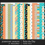 Seize the Day Pattern Paper Pack-$3.99 (Jumpstart Designs)
