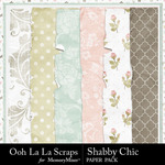 Shabby Chic Worn Paper Pack-$1.99 (Ooh La La Scraps)