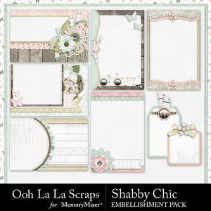 Shabby chic journal cards medium