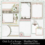 Shabby Chic Journal Cards Pack-$1.99 (Ooh La La Scraps)