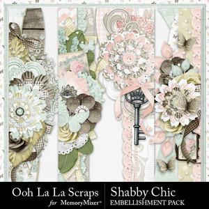 Shabby chic page borders medium