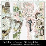 Shabby chic page borders small