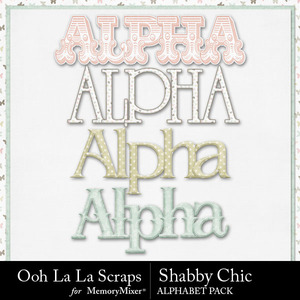 Shabby chic alphabets medium
