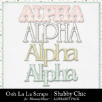 Shabby chic alphabets small