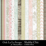 Shabby chic kit papers small