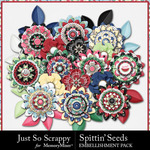 Spittin Seeds Layered Flowers Pack-$1.99 (Just So Scrappy)