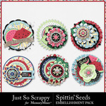 Spittin Seeds Cluster Seals Pack-$1.99 (Just So Scrappy)