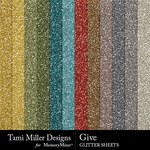 Give Glitter Sheets Pack-$3.99 (Tami Miller)