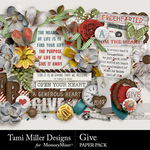 Give Embellishment Pack-$3.99 (Tami Miller)