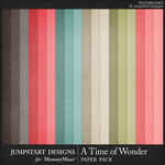 A Time of Wonder Solid Paper Pack-$3.99 (Jumpstart Designs)