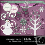 Chilly Embellishment Pack-$3.00 (Designs by Krista)