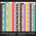Roughin It In Style Pattern Paper Pack-$3.99 (Jumpstart Designs)