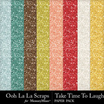 Take Time To Laugh Glitter Sheets Pack-$1.99 (Ooh La La Scraps)
