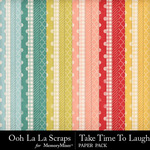 Take time to laugh pattern papers small