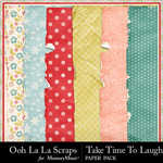 Take Time To Laugh Worn Paper Pack-$1.99 (Ooh La La Scraps)