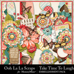 Take Time To Laugh Page Borders Pack-$1.99 (Ooh La La Scraps)