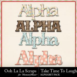 Take time to laugh alphabets medium