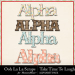 Take Time To Laugh Alphabet Pack-$3.49 (Ooh La La Scraps)