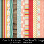 Take time to laugh kit papers small