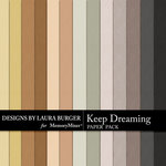 Keep Dreaming Solid Paper Pack-$4.99 (Laura Burger)