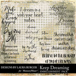 Keep Dreaming WordArt Pack-$4.99 (Laura Burger)