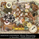 Keep Dreaming Embellishment Pack-$5.99 (Laura Burger)