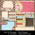 Ice Cream Pocket Cards Pack-$1.99 (Just So Scrappy)