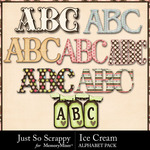 Ice cream alphabets small
