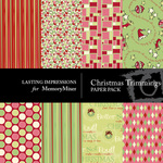 Christmas Trimmings Paper Pack-$3.50 (Lasting Impressions)