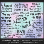 Once Upon a Summer Dream WordArt Pack-$3.99 (Jumpstart Designs)