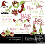 Christmas Trimmings Embellishment Pack-$3.00 (Lasting Impressions)