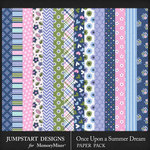 Once Upon a Summer Dream Pattern Papers-$3.99 (Jumpstart Designs)