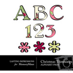 Christmas Trimmings Alphabet Pack-$1.00 (Lasting Impressions)