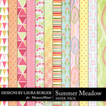 Summer Meadow Pattern Paper Pack-$3.99 (Laura Burger)