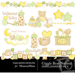 Giggle Bear Neutral Embellishment Pack-$3.50 (Tara Reed Designs)
