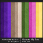 Music to My Ears Solid Paper Pack-$3.49 (Jumpstart Designs)
