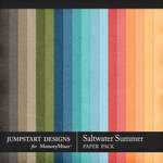 Saltwater Summer Solid Paper Pack-$3.99 (Jumpstart Designs)