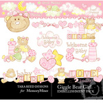 Giggle Bear Girl Embellishment Pack-$3.50 (Tara Reed Designs)