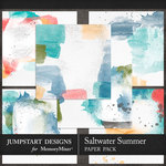 Saltwater Summer Blended Paper Pack-$3.99 (Jumpstart Designs)