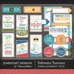 Saltwater Summer Journal Bits Pack-$3.99 (Jumpstart Designs)