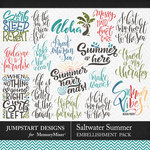 Saltwater Summer WordArt Pack-$3.99 (Jumpstart Designs)