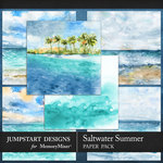 Saltwater Summer Scenic Paper Pack-$3.99 (Jumpstart Designs)